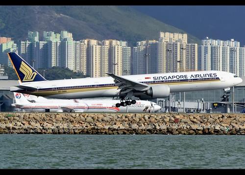 B777-312/ER   Singapore Airlines   9V-SWK   HKG