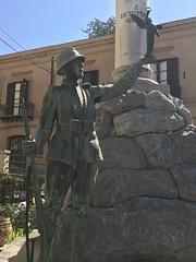 War Memorial Cefalu (ronindunedin) Tags: italy sicily mediterranean island mafia europe war memorial cefalu