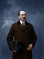 Gentleman (Silvia Yordanova) Tags: people man gentleman style history old photograph image coloured
