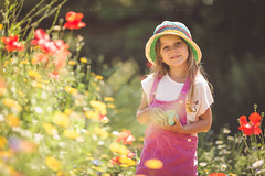 Wild and pure (solomiya.p) Tags: kids girl pretty summer beauty nature flowers botanical love kid smile hat fun day field meadow 135mm canon poppy portrait