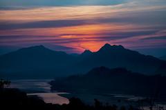 The Mekong At Sunset In Laos (El-Branden Brazil) Tags: laos laotian luangprabang asia asian mekong southeastasia