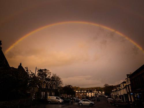 Double Rainbow Over St. Cuthbert's St for the Kirkcudbright Festival of Light