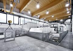 interni centrale di teleriscaldamento di Primiero