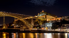 Porto (drasphotography) Tags: porto portugal vila nova de gaia bridge douro brücke ponte reflection reflektion nightshot long exposure drasphotography nikon d810 nikkor2470mmf28 travel travelphotography reise reisefotografie urban architecture architektur
