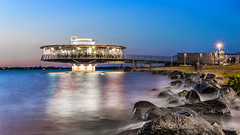 360° Restaurant (L'nort) Tags: nikon d700 70300 street dus evening night longexposure sunset restaurant porto alegre rocks water