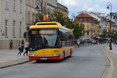 Solaris Urbino 12 electric #1901 (LukaszL99) Tags: warszawa elektryczny warsaw autobus electric bus elektischer solaris urbino 12 mza polska poland polen krakowskie przedmieście