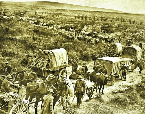 Logistics traffic jam as Americans advance in the Argonne Region, France 9-28-1918 NARA111-SC-23122-ac