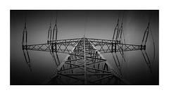electricity (geraldkoenigsohn) Tags: sky fujixt1 iron negativespace monochrome blackandwhite urban industrial electricity