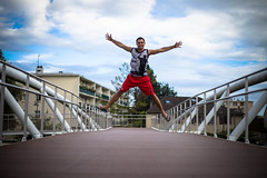 David (DavidLabasque) Tags: ciel sky photo model shoot shooting exterieur outdoor canon eos 6d 50mm paris france french homme man male modèle portrait face body jump saut basket wear tenue urban