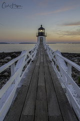 Marshall Point Lighthouse (Carol Huffman) Tags: lighthouse marshallpointlighthouse portclyde maine me sunset water