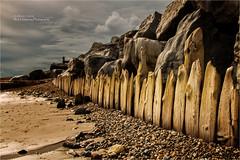 Elmer Sands Sea Defences (rhfo2o - rick hathaway photography) Tags: rhfo2o canon canoneos7d elmer elmersands bognorregis westsussex beach sand rocks seadefences sky ree