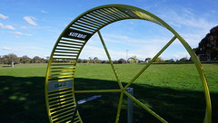 View through a circle #24 (spelio) Tags: actsep2018shawyassvalleynsw canberra australia sep 2018 rural art sculpture murrumbateman