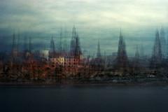 Rīga multi-exposure, September 2018 (thescatteredimage) Tags: rīga latvia latvija multiexposure multipleexposure film kodak ektar100 canoneos3 impression impressionistic impressionist