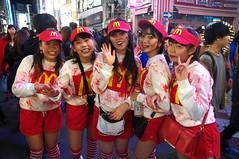Halloween in Shibuya, Tokyo (runslikethewind83) Tags: shibuya tokyo ladies girls women mcdonalds costume cosplay halloween event fun pentax