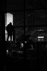 Dublin ferry port 2 (béalbocht) Tags: silhouettte dublin ireland people shadows light ferry port