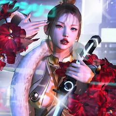 946 (Tomomi alpaca Homewood) Tags: neojapan violetta ink hilu gb collabor88 r2fashion r2adeshigure cyber sword fur