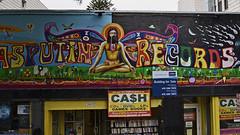 rasputin on cash (t.horak) Tags: sign rasputin wall hippies painting colours sitting man yoga cash francisco usa