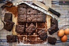 All you need is love, and lot's of Brownies! (Shifat-Maria) Tags: food chocolate dessert cocoa snacks baking brownies indoor yummy sugar homemade cake gourmet
