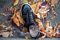 another sidewalk shoe (queue_queue) Tags: biotar street shoe found discarded vintage vintagelens a7rii sanfrancisco