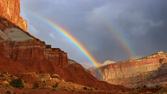 Double Rainbow (phl_with_a_camera1) Tags: capitol reef national park double rainbow