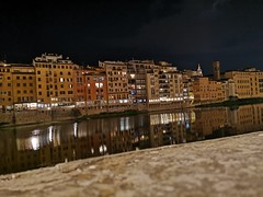 Florence by night (davidkorbaxv) Tags: sky moonlight moon dark black florence firenze night water reflection reflections