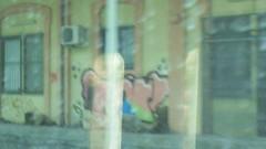 1194 (en-ri) Tags: iorr video la spezia wall muro graffiti writing rosa verde nero blu