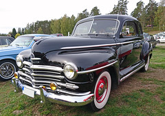 1948 Plymouth Special De Luxe Business Coupe (crusaderstgeorge) Tags: crusaderstgeorge classiccars cars 1948plymouthspecialdeluxebusinesscoupe plymouth special de luxe business coupe 1948 blackcars chrome americancars americanclassiccars americancarsinsweden sweden sverige högbo veterancar cool carmeet