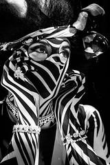 Performer at Pacha Dubai (Kristina Willke) Tags: blackandwhite profile portrait jewellery