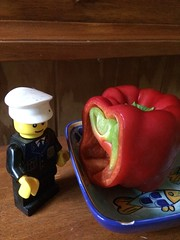 What's in there. (marsh_maureen) Tags: capsicum legoman lego