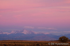 October 21, 2018 - Sunrise illuminates Mount Meeker to the west.  (Bill Hutchinson)