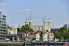 The Tower Of London, Viewed From The River Thames 03/08/2018 (Gary S. Crutchley) Tags: thames london river tower of uk great britain england united kingdom city nikon d800 travel history heritage