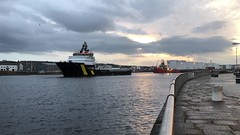 Caledonian Victory - Aberdeen Harbour Scotland - 31/10/18 (DanoAberdeen) Tags: vectoroffshore cargoships docks seaport northpier torry tug tugboats riverdee northsea supplyships offshore oilships scotland northeast maritime seafarers abdn abz psv 2018 iphonevideo video mpeg aberdeenscotland aberdeenharbour fittie footdee amateur candid danoaberdeen caledonianvictory tugs boats vessels ships uk gb aberdeen harbour metal oilrigs clouds autumn summer winter spring ship workboats water