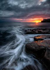 Saltpan Sun Burst (Squareburn) Tags: amble sunrise northumberland coast seascape saltpans coquetisland dawn sunburst