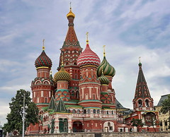 Saint Basil's Cathedral (meren34) Tags: saint basils cathedral moscow onion dome church historical tower red squere magnificence travel city