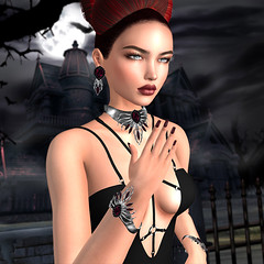 LuceMia - Zuri Jewelry at Swank Event (2018 SAFAS AWARD WINNER - Favorite Blogger - MISS ) Tags: zurijewelry swankevent jewelry halloween silver red collection nahla cherry cherrybrushed steel sl secondlife mesh fashion creations blog beauty hud colors models lucemia