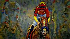 Homestretch (migueldeozarko) Tags: painterly jockey horse