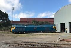 50035 Ark Royal Kidderminster shed (Flikrman Gaz) Tags: severnvalleyrailway class50 arkroyal 50035 englishelectric brblue