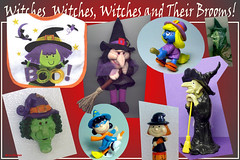 HW 2014-11  Witches and Their Brooms (StarRunn) Tags: halloween holiday witches smurfs peanuts lucy pvc vinylfigures figures toys smurfette