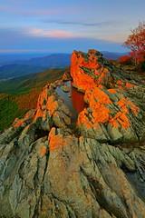 Little Stony Man: Warn sunset light (Shahid Durrani) Tags: little stony man shenandoah national park virginia sunset