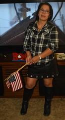 DSC_6302 (Ez2plee4u) Tags: sexy filipina wife husband skirt dress american flag booth high heels dance leg beauty beautiful leather red black yellow tv smile face colorado love happy short