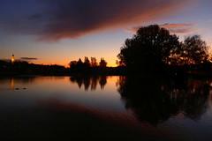 Morning (tatranka7) Tags: morning sunrise reflections mirror pond water colors atmosphere autumn lake sky trees