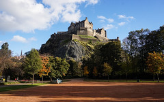Edinburgh Castle (p.mathias) Tags: edinburgh castle castles history historical historic city uk united kingdom europe sony a5100 architecture building csc summer scotland scottish sky road tree tower ruins grass ancient landscape