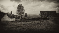the old village (johnny_9956) Tags: auchindrain scotland highlands cottage village settlement outdoor blackandwhite sepia