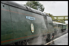No 34072 257 Squadron 14th Oct 2018 Swanage Railway Steam Gala (Ian Sharman 1963) Tags: no 34072 257 squadron 14th oct 2018 swanage railway steam gala class wc bb west country and battle of britian 462 station engine rail railways train trains loco locomotive passenger heritage line river frome norden corfe castle sr