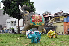 Elephant Figurines (chooyutshing) Tags: elephant figurines display deepavalifestival2018 attractions hindooroad littleindia singapore