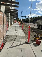 New sidewalk open on MLK and Alaska (Seattle Department of Transportation) Tags: seattle sdot transportation donghochang new sidewalk open mlk alaska construction walking improvements orange poles