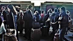 Push Crush & Rush. (ManOfYorkshire) Tags: arriva crosscountry train trains railway push crush passengers customers crowd crowding choosing mass loading unloading sheffield station platform voyager diesel unit