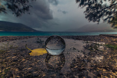 Let it rain (Vagelis Pikoulas) Tags: rain rainy raining day reflection reflections water crystal ball canon 6d tokina 1628mm landscape sea seascape porto germeno greece autumn september 2018