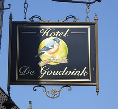 Hotel de Goudvink (The3Winds) Tags: sign abcoude netherlands bullfinch
