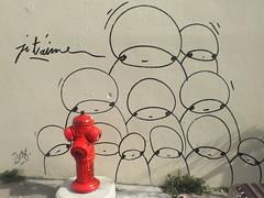 DSCF9935 (Benoit Vellieux) Tags: lyon france 4èmearrondissement 4thdistrict croixrousse streetart murpeint paintedwall bemaltemauer ruejeannemariecélu dessin drawing zeichnung bouchedincendie firehydrant unterflurhydrant anschlussstutze